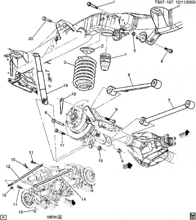 Replacing Air Ride Suspension Chevy Trailblazer