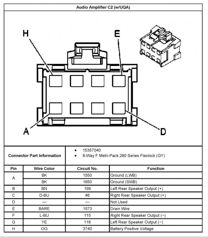 stock stereo amp wiring diagram for 2004 chevy impala stock wiring schematic for bose speakers chevy trailblazer