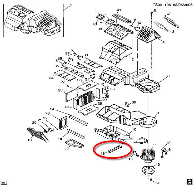 1999 Chevy Silverado Cabin Filter Location