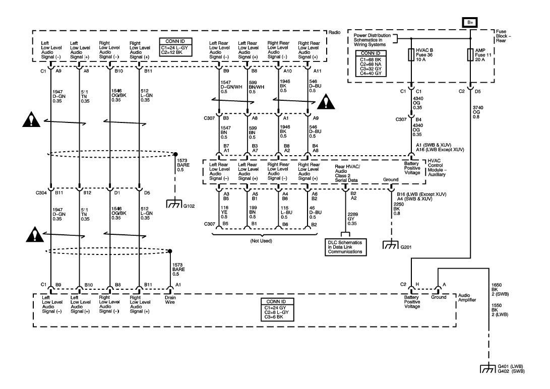 envoy bose stereo wiring diagram