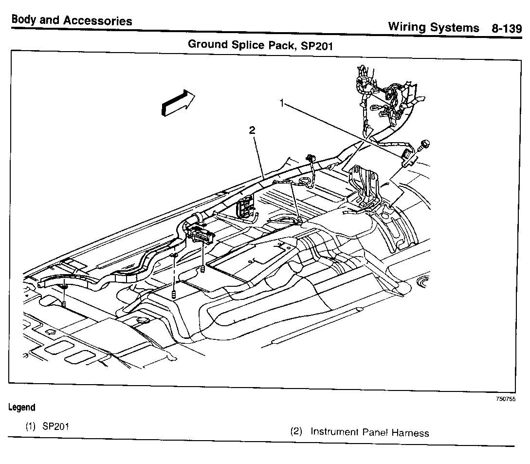 Location of electrical grounds - Chevy TrailBlazer, TrailBlazer SS ...