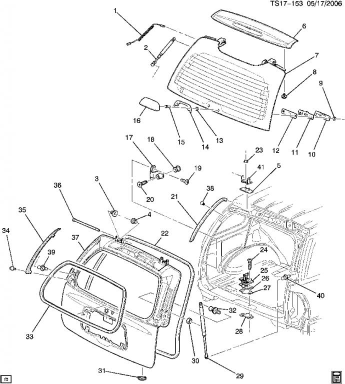 oem replacement body parts chevy trailblazer trailblazer ss and click image for larger version liftgate hardware 060517ts17 153 jpg views