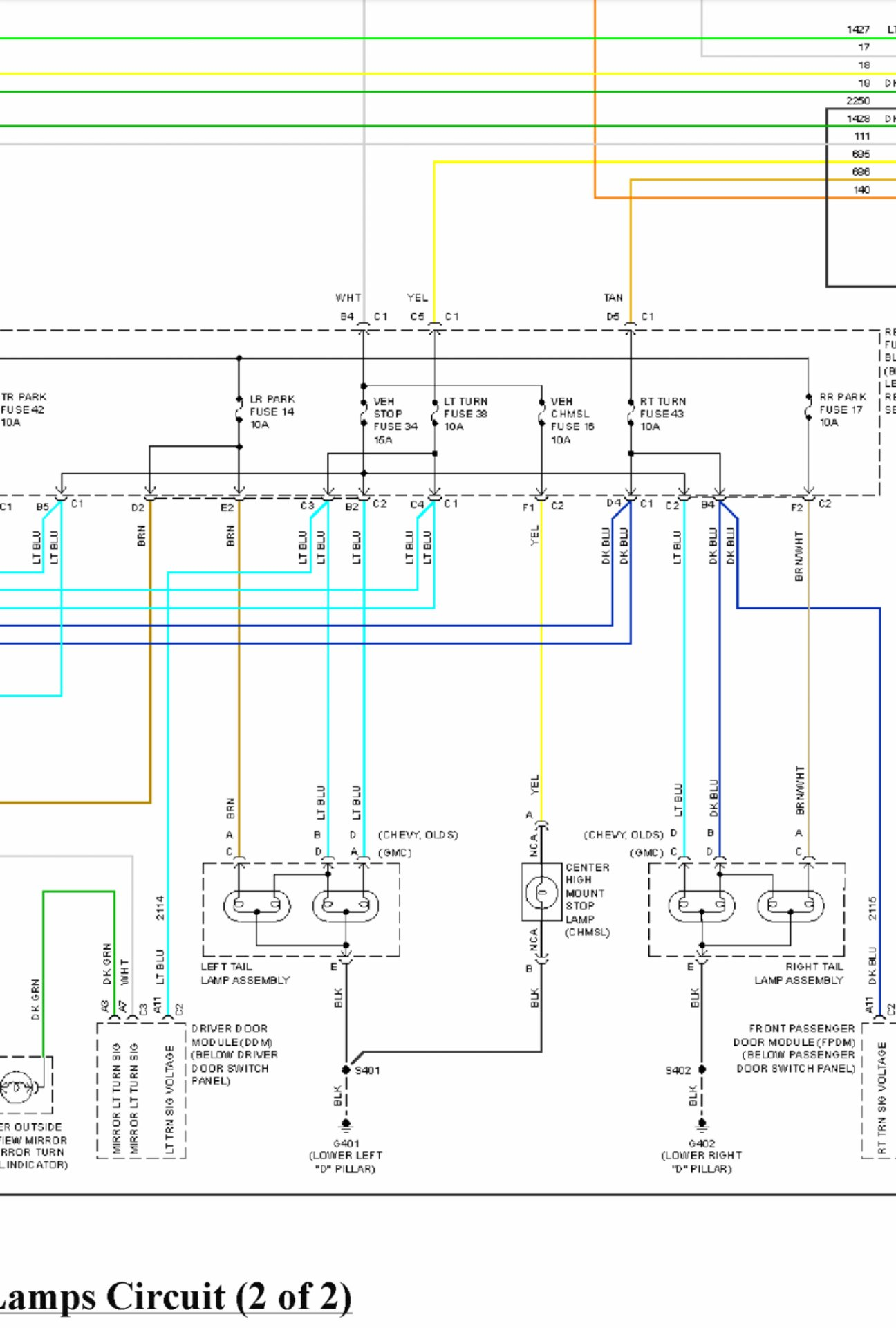 Wire Diagram Of Brake Lights Chevy