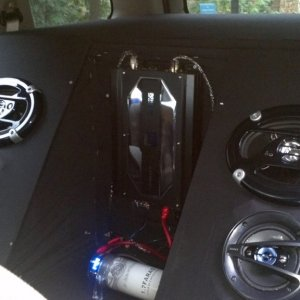 Rear Seat/Speaker box